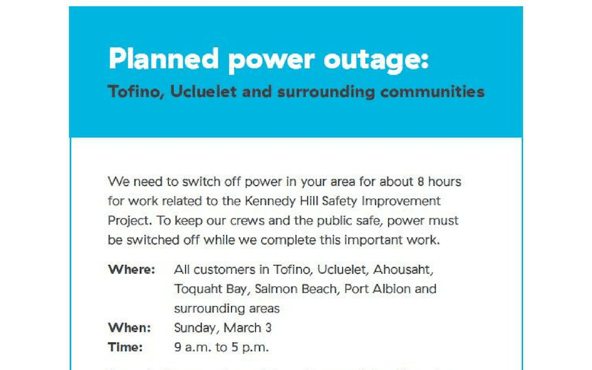 Planned Power Outage | Octopus Event Promotions